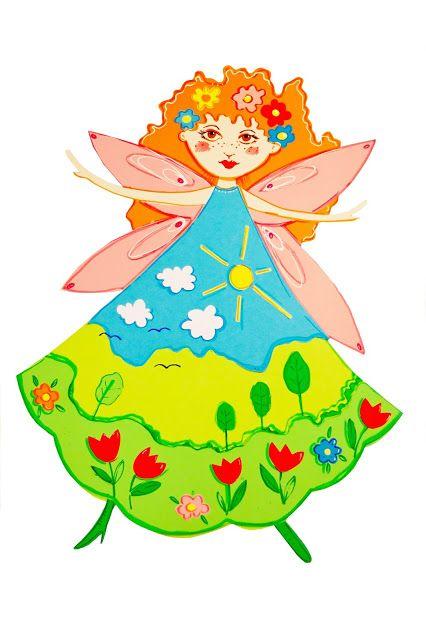cardboard, decor, decoration, fairy, paniwiosna, spring, wiosna