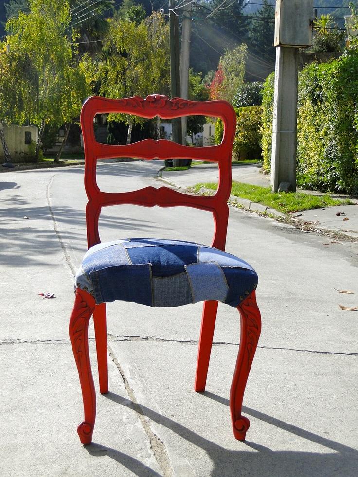 Silla Normando tapiz en patchwork