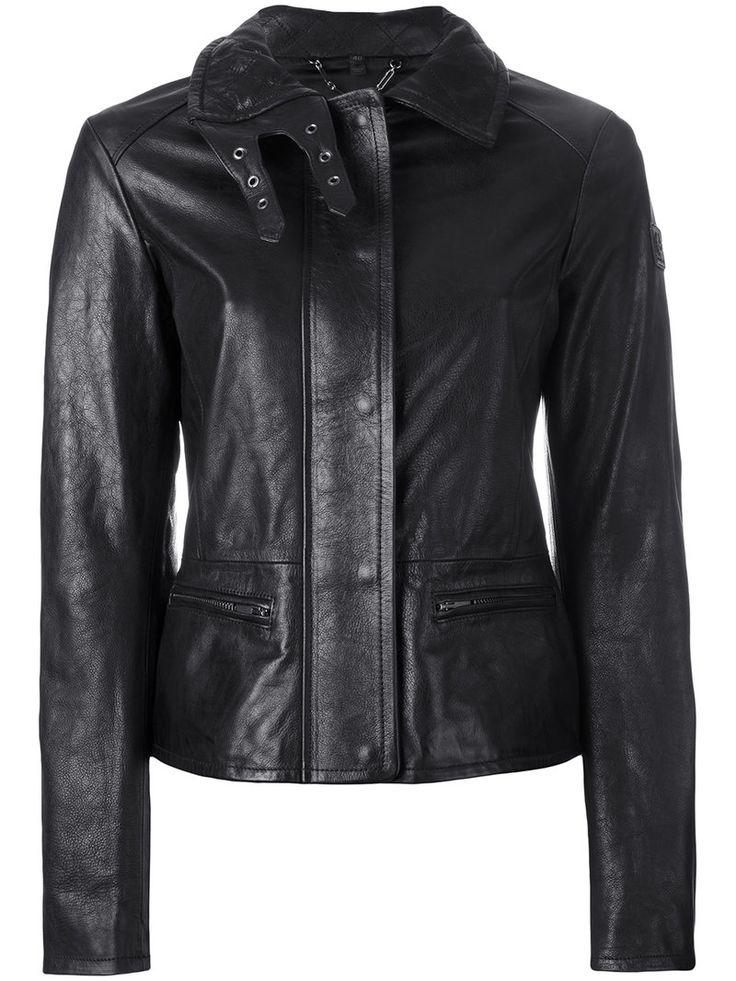¡Cómpralo ya!. Belstaff - Jacket With Quilted Collar And Biker Detail - Women - Leather/Viscose - 44. Black leather jacket with quilted collar and biker detail from Belstaff. Size: 44. Gender: Female. Material: Leather/Viscose. , chaquetadecuero, polipiel, biker, ante, antelina, chupa, decuero, leather, suede, suedette, fauxleather, chaquetadecuero, lederjacke, chaquetadecuero, vesteencuir, giaccaincuio, piel. Chaqueta de cuero  de mujer color negro de BELSTAFF.