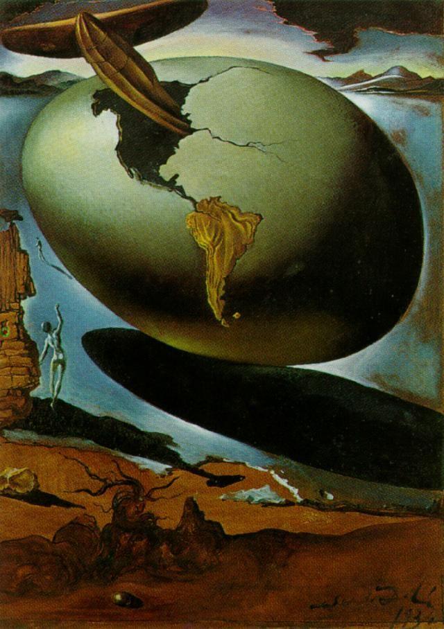 Salvador Dali >> Allégorie d un Noël américain, 1934  |  (huile, reproduction, copie, tableau, oeuvre, peinture).