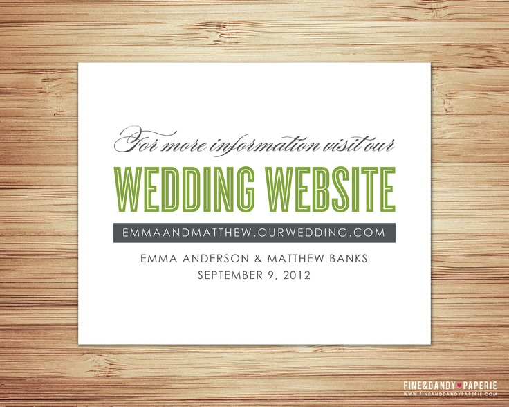 17 best images about wedding stuff on pinterest With wedding invitation insert for website