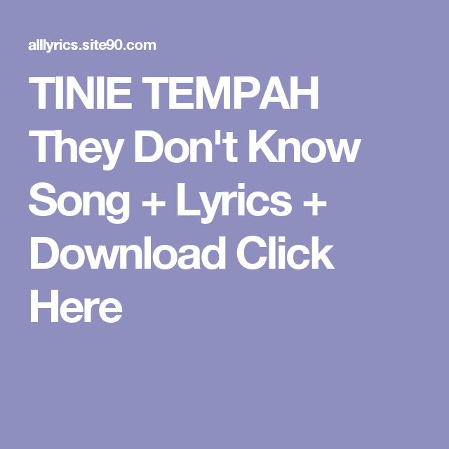 TINIE TEMPAH They Don't Know Song + Lyrics + Download  Click Here
