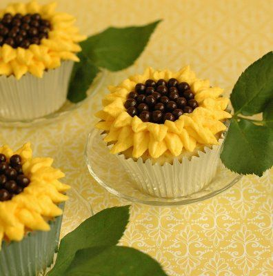 SunflowersCute Cupcakes, Cupcakes Ideas, Yummy Recipe, Food, Random Pin, Sunflowers Cupcakes, Sunflower Weddings, Summer Treats, Cupcakes Rosa-Choqu