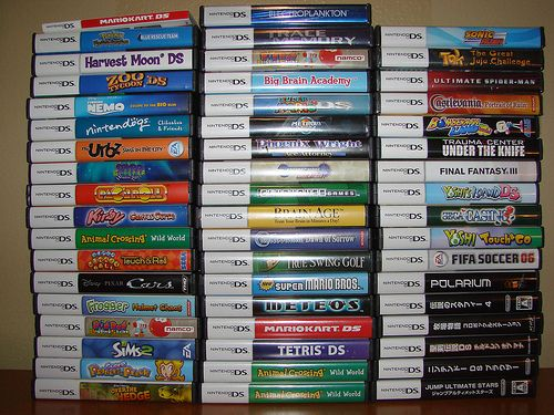 Our family NDS game collection. Do you think we like the DS? 47 original titles, 5 multiple copies, and 1 web browser.   Gaming Panda offer a full range of purchasing guide for Pc games digital download. - http://www.gamingpanda.net