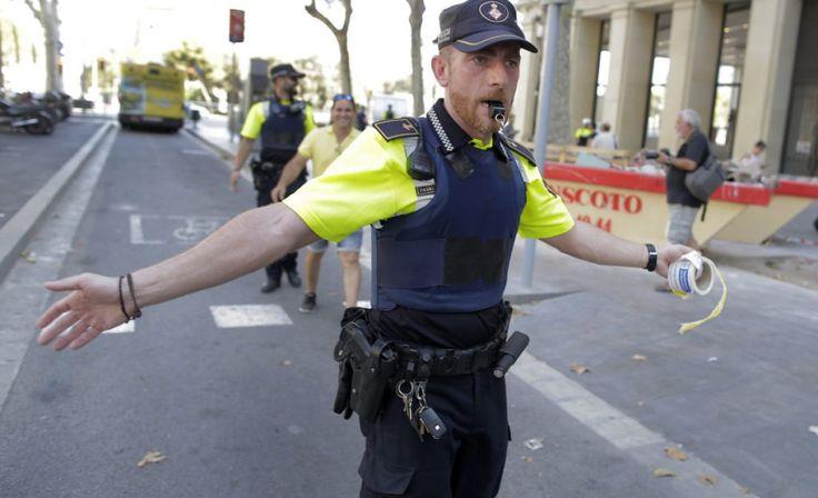 Van Mows Down Pedestrians In Barcelona Terror Attack