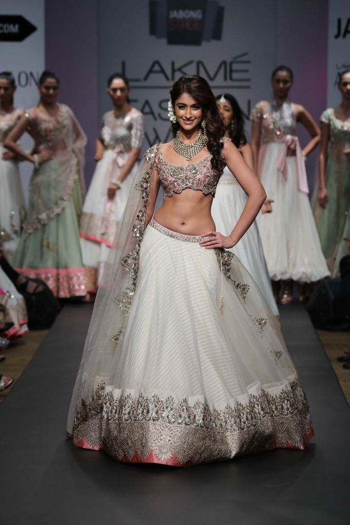 Baby pink, white, and gold lehnga - Anushree Reddy Lakme Fashion Week S/R 2014