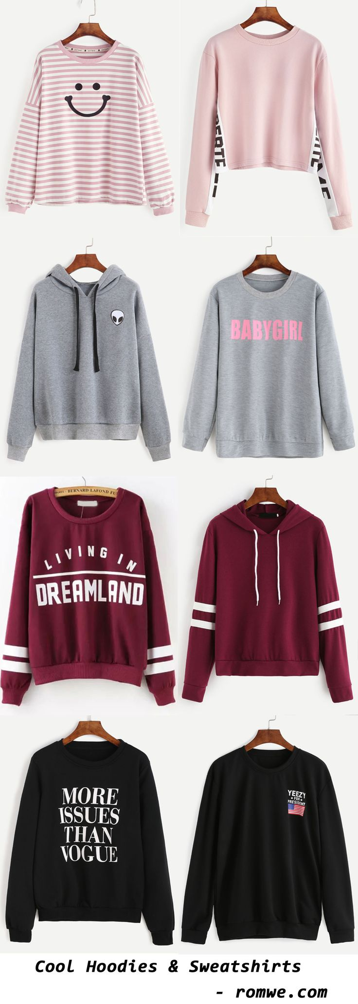 Cool Sweatshirts & Hoodies - romwe.com