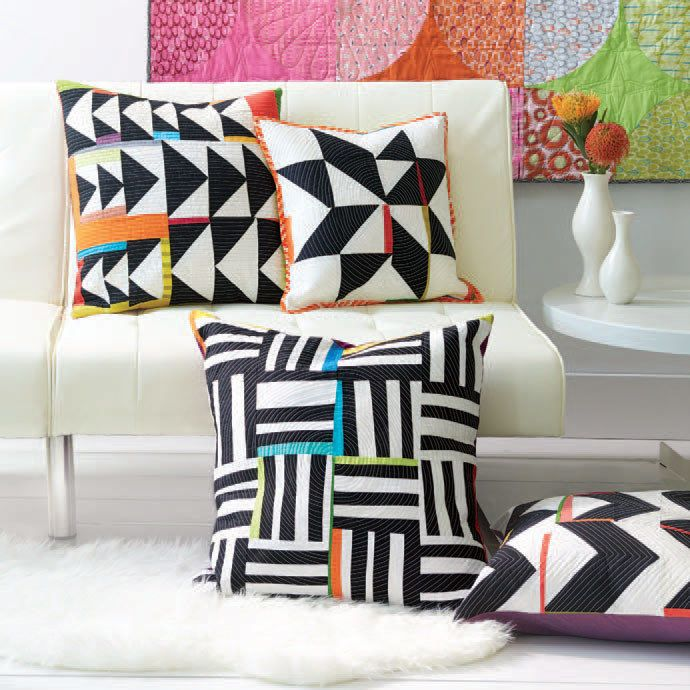 Try your hand at improv quilting with a set of quilted pillows. You won't want to miss these projects and the article by Malka Dubrawski in Modern Patchwork Magazine. Learn more >>