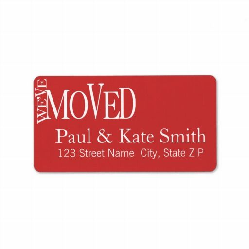 Top 16 best We'Ve Moved Address Labels images on Pinterest | Lyrics  TJ88