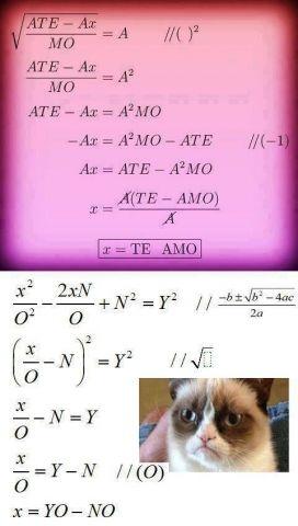 Te amo, matemáticas