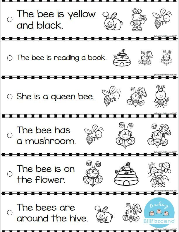 Free Reading Fluency And Comprehension Sentence Strip Reading