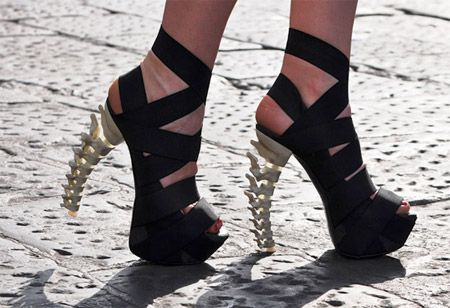 BOLD Design    Skeletal stilettos are a part of Dsquared2's 2010 fall collection
