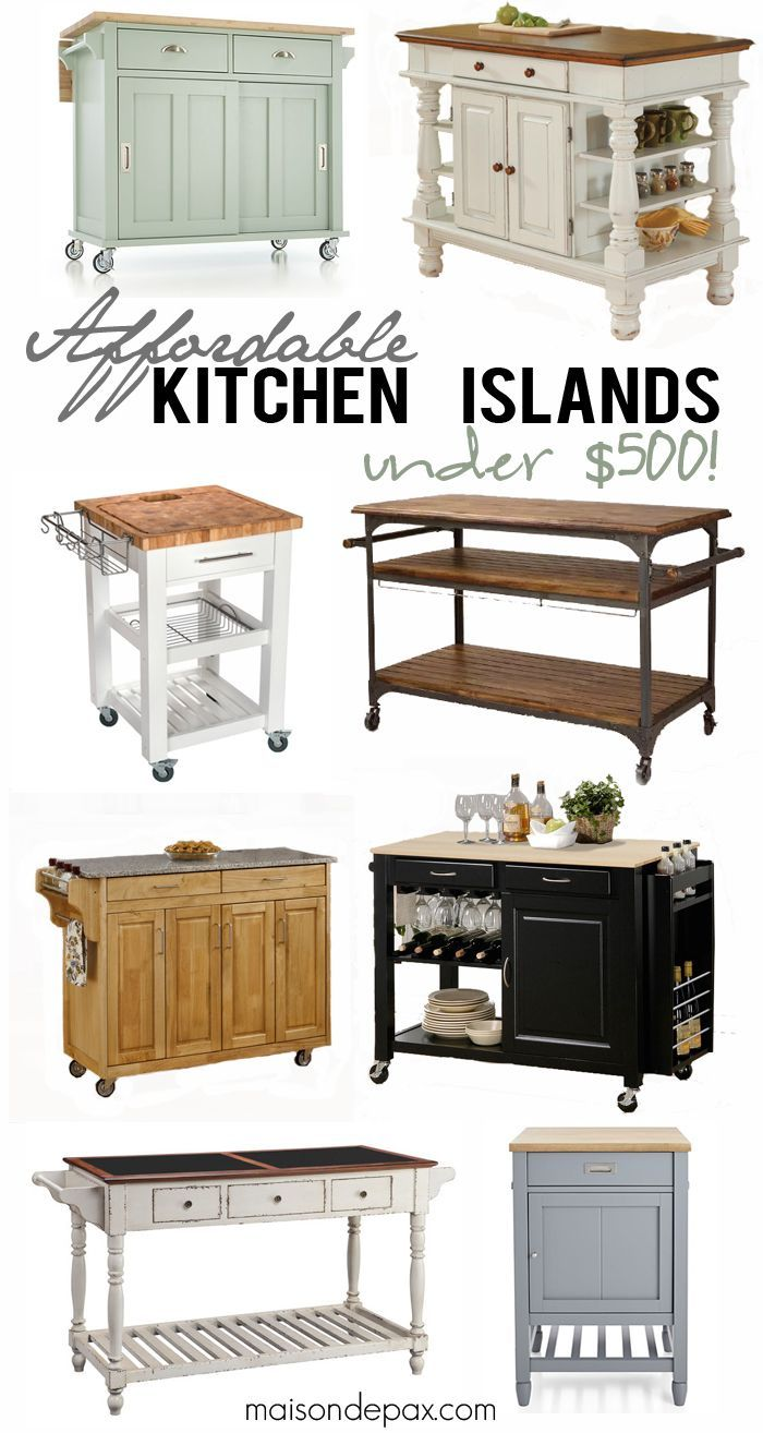 Where to Buy Affordable Kitchen Islands Portable kitchen