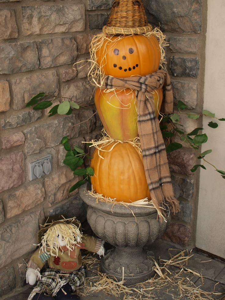 Best Scarecrows And Pumpkin People Images On Pinterest