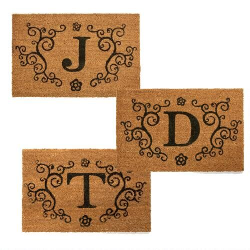 My favorite discoveries at christmastreeshops com monogram coir mat