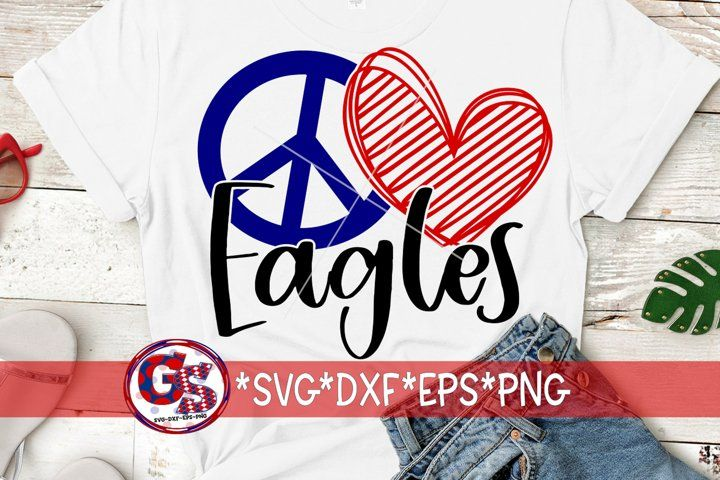 Download Peace Love Eagles Svg Dxf Eps Png 720544 Svgs Design Bundles Peace And Love Svg Eagles
