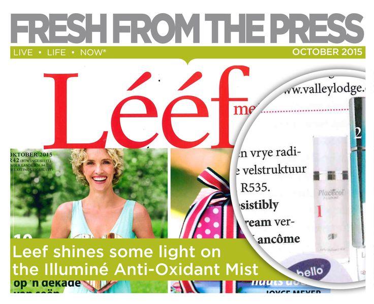 Leef Magazine shines some light on the Illumine Anti- Oxidant Mist