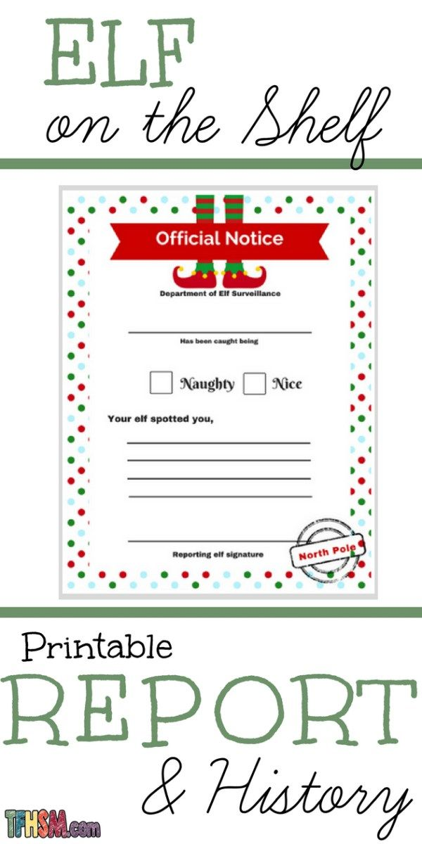 The Frugal Homeschooling Mom The History Of The Elf On The Shelf Story Free Printable The A3fc7d3c Resume Elf On Shelf Letter Elf Report Card Elf On The Shelf