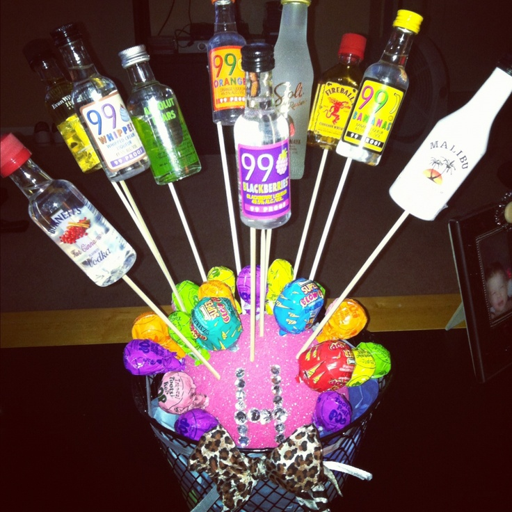 Alcohol Bouquet For Heathers 21st Birthday