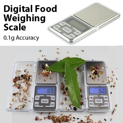 Digital Food Weighing Scale [0.1g-500g Weighing Range]Capacity  : 500gAccuracy : 0.1gPlatform : Stainless SteelAuto Off: 30secondsIn order to purchase, please visit our webstore @ http://list.qoo10.sg/item/DIGITAL-FOOD-WEIGHING-SCALE-0-1G/426652033