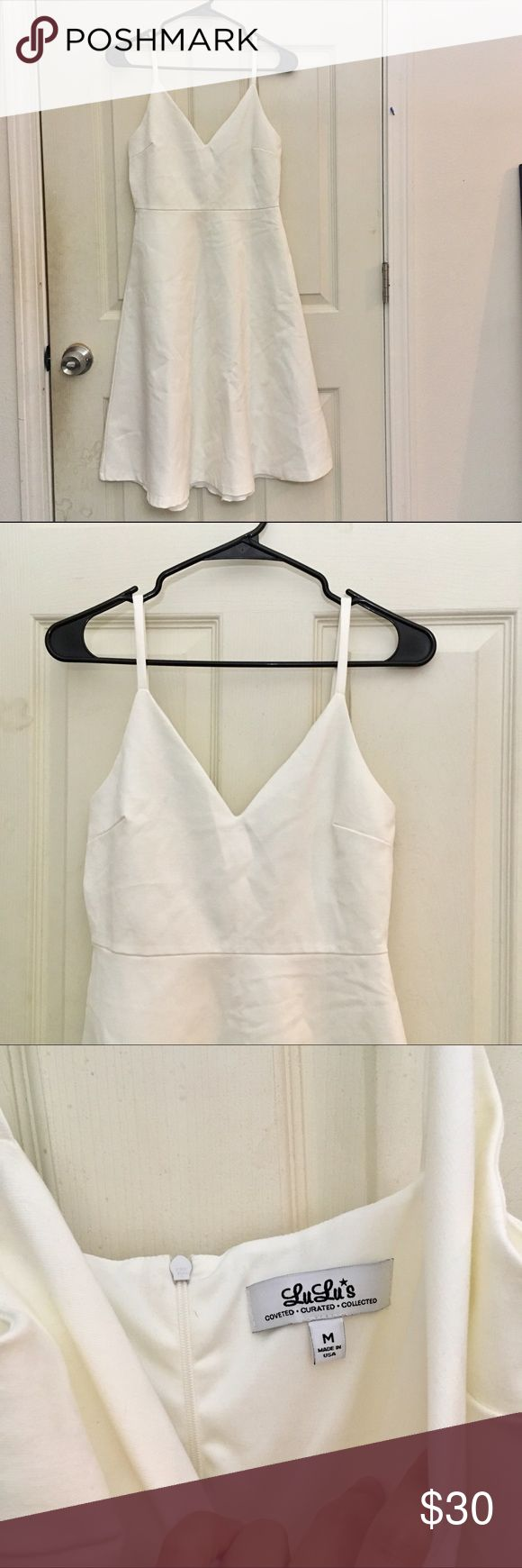 Lulu's white skater dress New without tag. Size M, length of the dress is 37inches Lulu's Dresses Mini