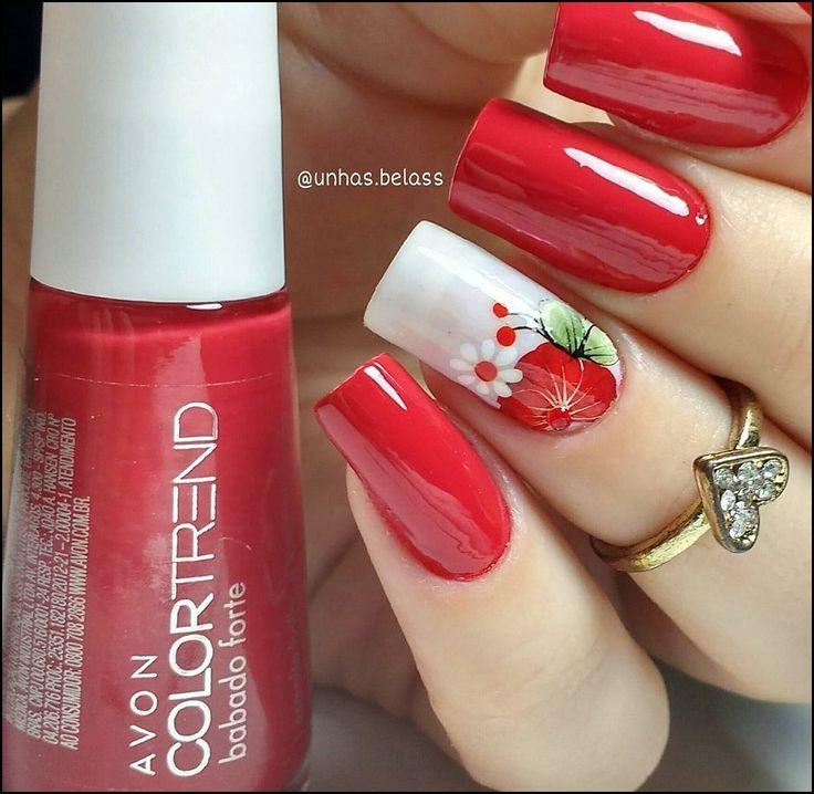 As 25 melhores ideias de Unhas decoradas vermelha no Pinterest Arte das unhas em vermelho  -> Decoracao Unhas Vermelhas