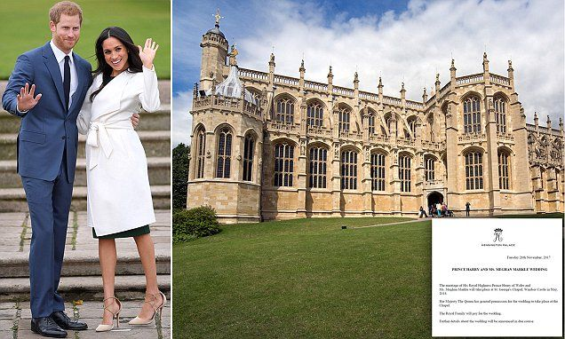 BREAKING NEWS  Harry and Meghan will marry at Windsor Castle in MAY The couple are not wasting any time and will walk down the aisle just months after getting engaged and under two years after they first met on a blind date.