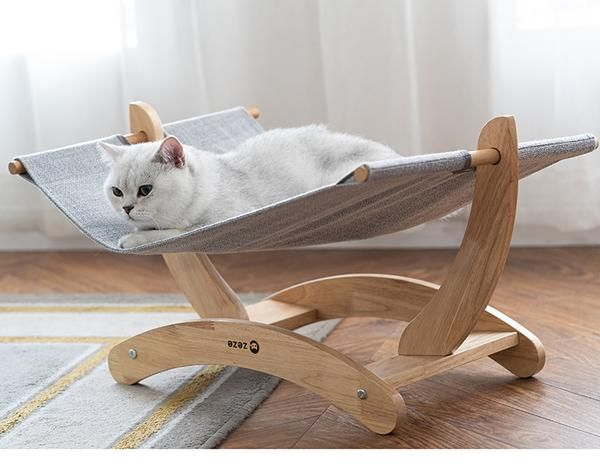 Summer Cooling Wooden Stand Designer Pet Bed For Small Medium Cats Cat Bed Furniture Cat Bed Designer Pet Beds