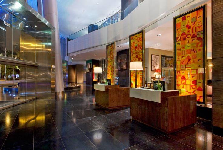 Collages en Concierge area,  hotel Westin Libertador San Isidro, Lima