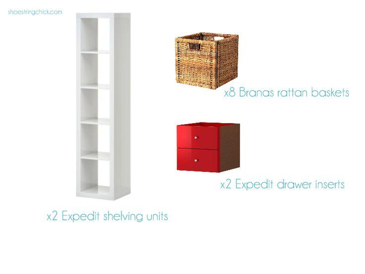 Bedroom Dresser Alternative for Under  300   Shoestring Chick. 17 best ideas about Dresser Alternative on Pinterest   Curtain