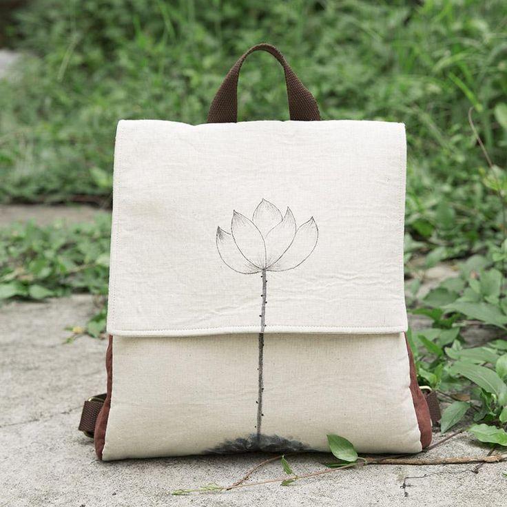 Printing Casual Women Beige Backpack