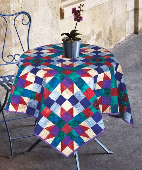 Shades of Milan by Linda J. Hahn (from The Quilter Magazine April/May 2014 issue)