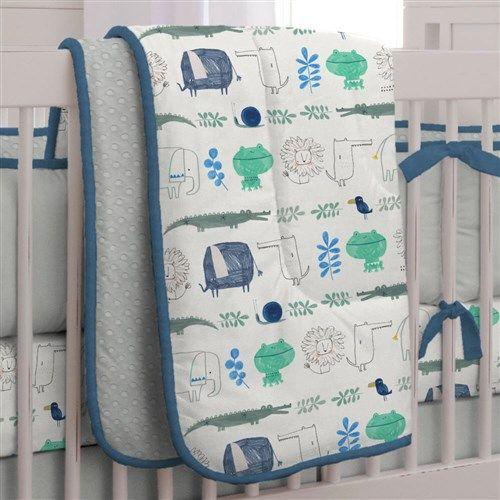 Safari Friends Crib Bedding by Carousel Designs.