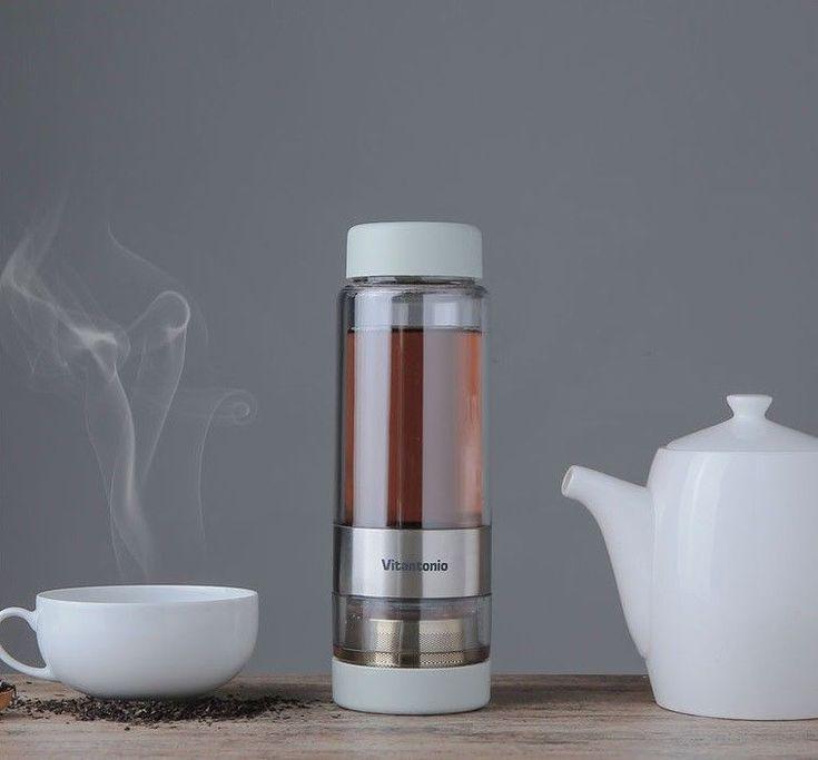 Vitantonio Twistea  2 in 1 New Concept Tumbler Twist Tea Infuser Cup Travel Mug  #Vitantonio