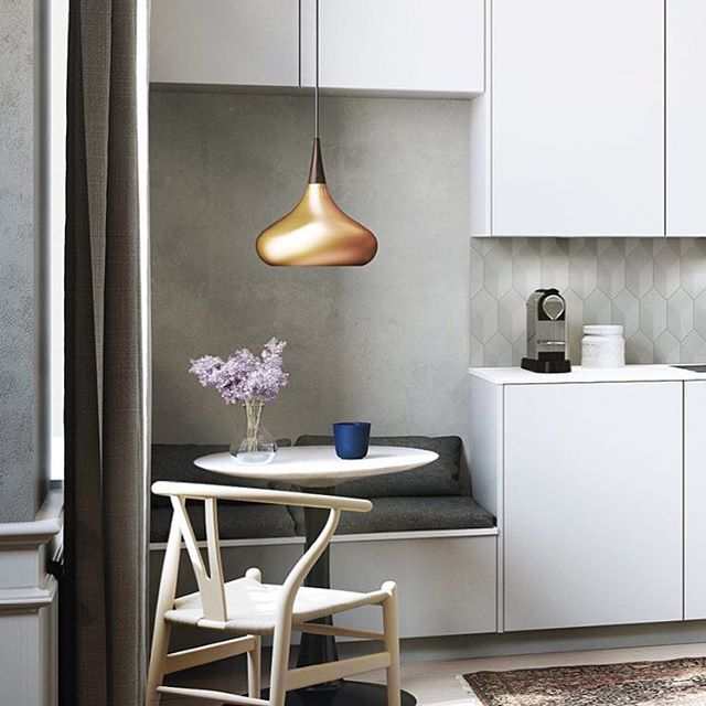Who needs a living room, when you can have a living kitchen?  breakfast and reading nook with Kvik's new cushions to fit on drawers - smart!  #compactliving #kvik #livingkitchen #sentibykvik #cushions #multipurpose #sociablekitchen #kök #keuken #køkken #keittiö #kjøkken #kitchen #cosy