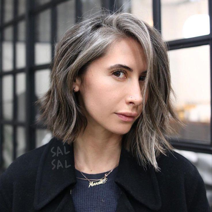 gray hair growing