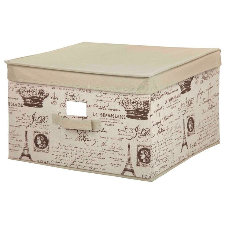 Organize Your Life And Do It In Style With This Large Fabric Storage Box.  This