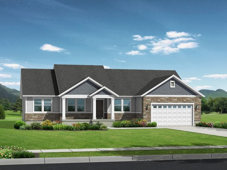 47 best exterior house images on pinterest exterior for Rambler house plans utah