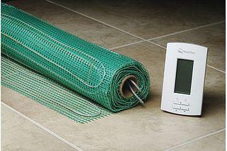 Good summary of some DIY heated floor options