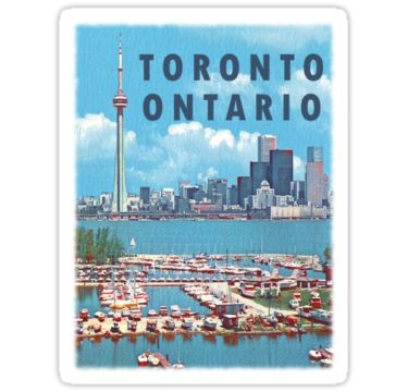 """Toronto Ontario Canada Vintage Travel Decal"" Stickers by hilda74 
