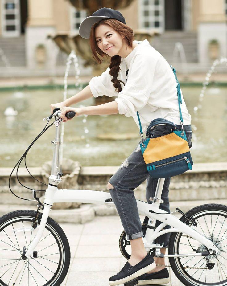 Park Soo Jin | Bike Riding | Street Style