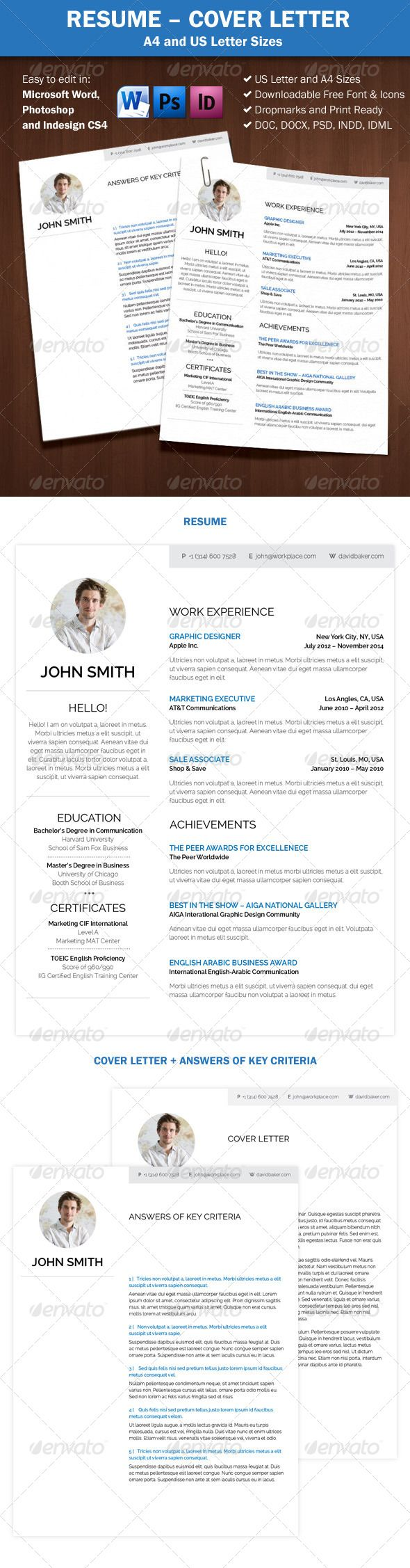22 Best Curriculum Vitae Design Images On Pinterest Curriculum