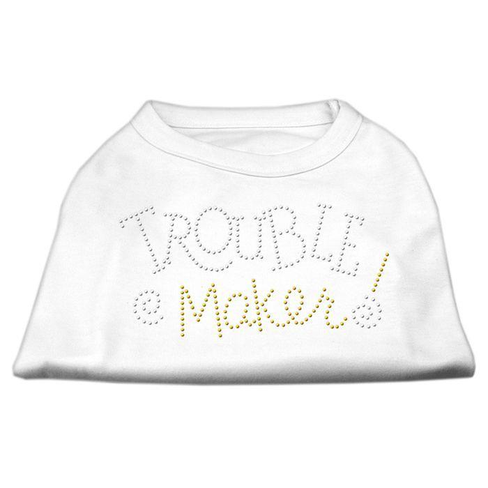 J,Trouble Maker Rhinestone Shirts White XL (16): Bid: 12,98€ (£11.38) Buynow Price 12,98€ (£11.38) Remaining Listing Closed A poly/cotton…