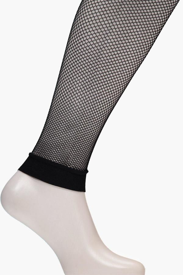 boohoo Abbie Footless Fishnet Tights