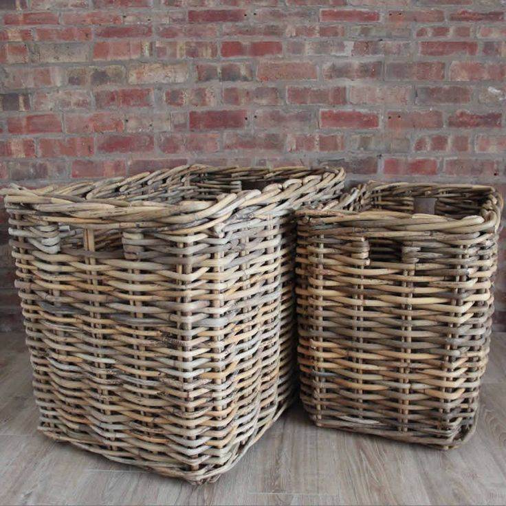 Extra Large Rectangular Wicker Log Baskets - Toy Baskets – Cowshed Interiors