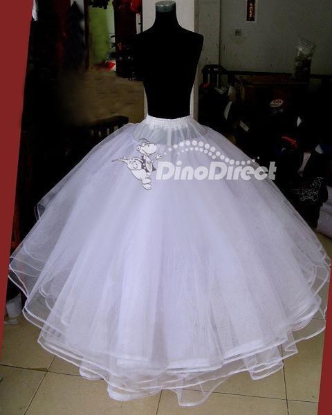 crinoline petticoat | ... Hoopless 6 Layer Wedding Dress Crinoline Petticoat - DinoDirect.com