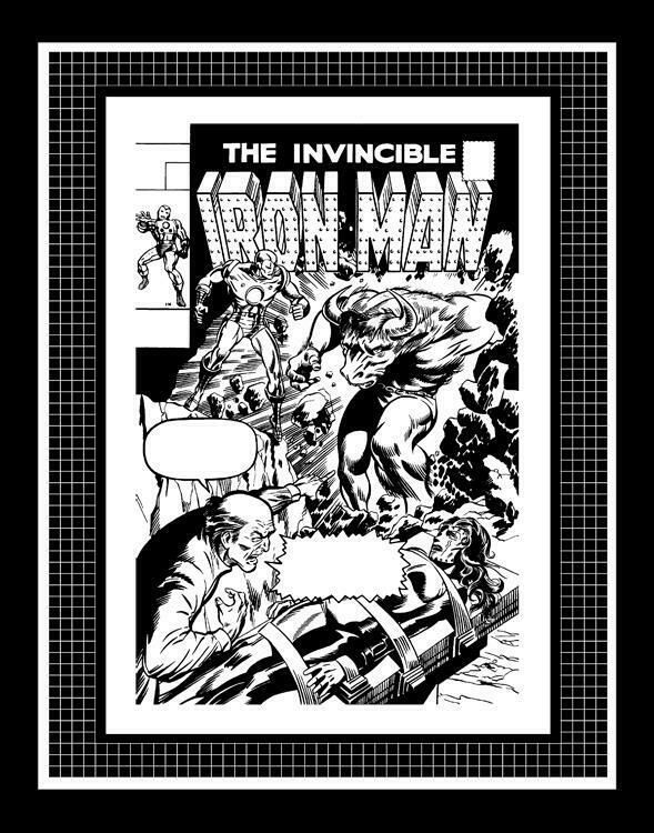 Marie Severin Iron Man 24 Rare Production Art Cover Ebay Art Marvel Coloring Art Pages