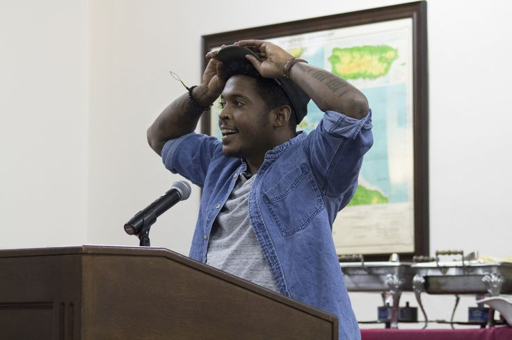"""The Visiting Writers Series presents a reading by poet Danez Smith on Thursday, November 17, 2016.Smith is the author of """"[insert] boy,"""" winner of the 2014 Lambda Literary Award for Gay Poetry and the 2016 Kate Tufts Discovery Award. Smith is also the author of two chapbooks, """"hands on ya knees"""" and """"black movie,"""" winner of the Button Poetry Prize. Smith's second full-length collection, """"Don't Call Us Dead,"""" will be published by Graywolf Press in 2017."""