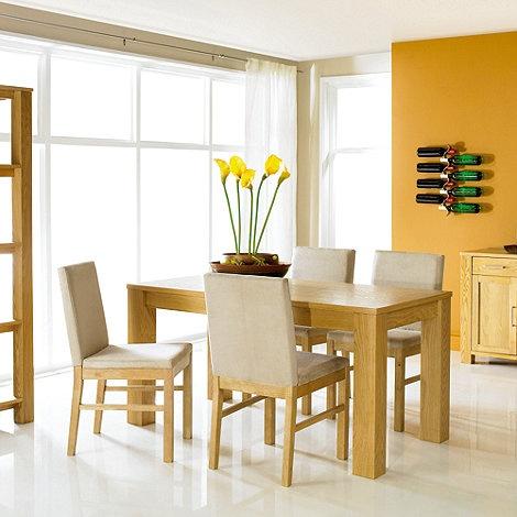 Debenhams Oak Cuba Fixed Table At