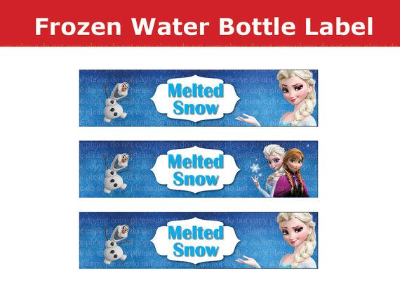 Melted Snow Water Bottle Labels | Frozen Party Ideas ...